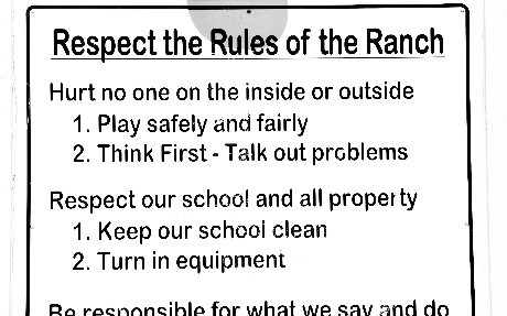 Rules of the Ranch